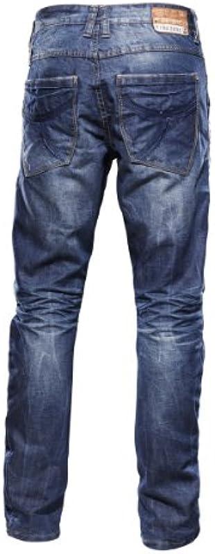 """Timezone New Lewin 3D 3106 męskie dżinsy normalny ściągacz w pasie """"3106 waterline wash"""" 26-5422 (inne kolory): Odzież"""