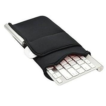 Funda protectora Easywisdom para teclado Bluetooth inalámbrico Apple MC184LL/B y teclado Bluetooth inalámbrico Logitech K810/K811, de neopreno con ...