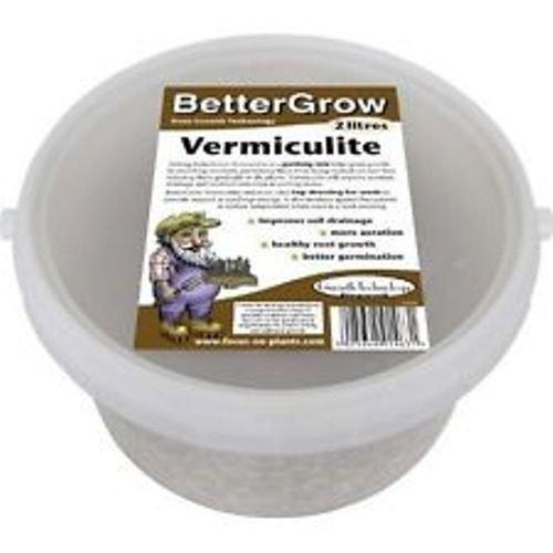 BetterGrow Vermiculite 2 Litre Growth Technology Ltd MDVER2