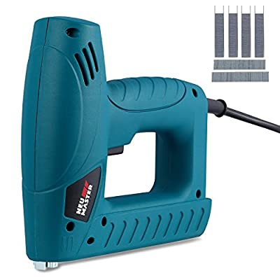 NEU MASTER N6013 Electric Staple Brad Nail Gun Kit Includes 400 Staples and 100 Nails