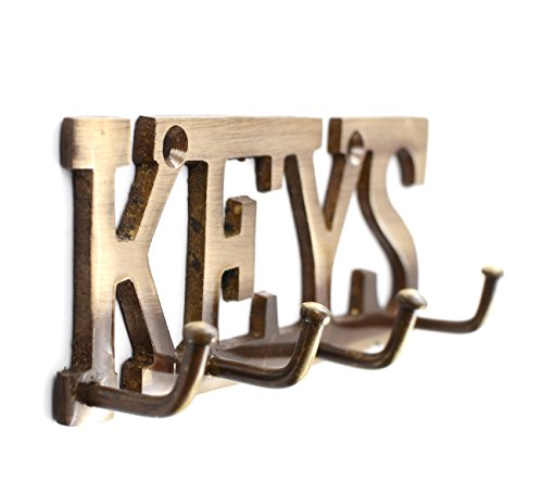 Klaxon KEYS key holder with 4 Pronges – Antique finish