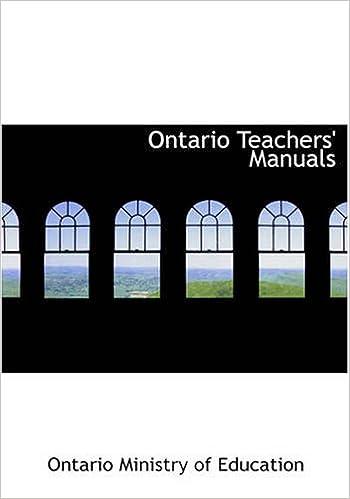 Book Ontario Teachers' Manuals: History