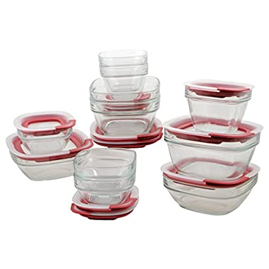 Rubbermaid Easy Find Lid Glass Food Storage Container, 22-Piece Set (1865887)