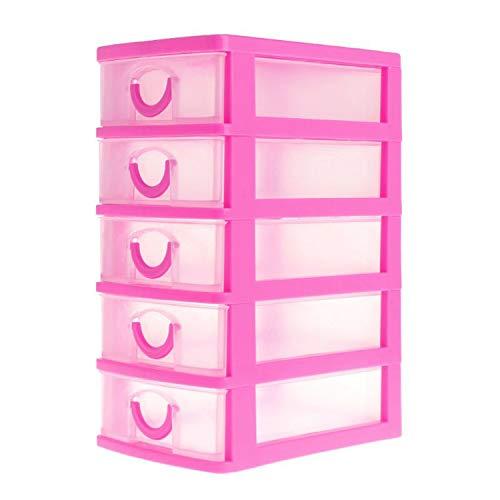 LIAOYLY Jewelry Storage Box Layer Plastic Case Jewelry Headdress Drawer Desk Jewelry Packaging & Display Tool,HP5