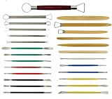 Aiber 26PCS Clay Sculpting Tools Pottery Carving Tool Color Shapers, Modeling Tools Set