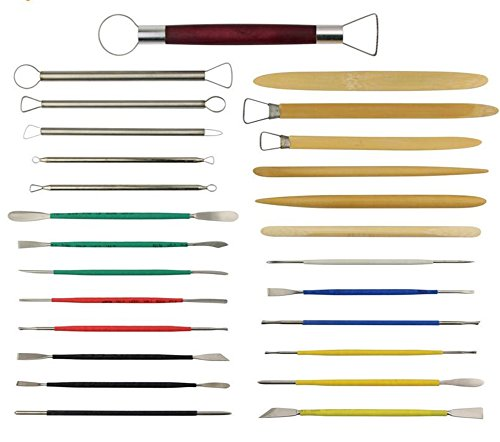 26Pcs Clay Sculpting Tools Pottery Carving Tool Color Shapers, Modeling Tools Set