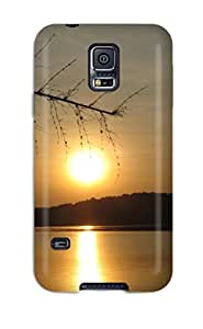 Tpu Case Cover For Galaxy S5 Strong Protect Case - Cool Sunset Sun Light Reflection Water Lake Dark Nature Other Design