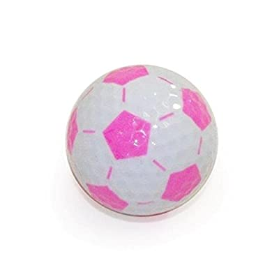 Golf Balls, Nitro Novelty Soccer Balls, 3 Pack, White/Pink