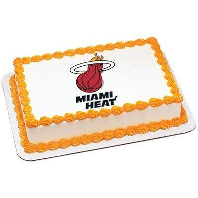 Miami Heat Licensed Edible Cake Topper #4702