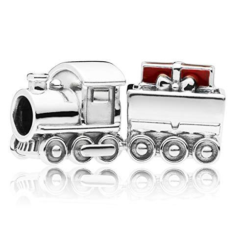 Pandora Christmas Train Red Enamel 925 Sterling Silver Charm - 797519EN27 (Silver Train Charm)