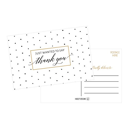 50 4x6 Blank Fill In Thank You Postcards Bulk, Cute Modern Chic Boho Thank You Note Card Stationery For Wedding Bridesmaid, Bridal / Baby Shower, Teachers, Appreciation, Religious, Business, Holidays