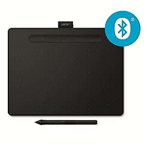 Wacom CTL-6100WL Intuos M - Tableta gráfica con lápiz, digitalizadora con bluetooth para dibujo y edición fotográfica, lápiz ultrapreciso, compatible con Windows y MacOS, color negro