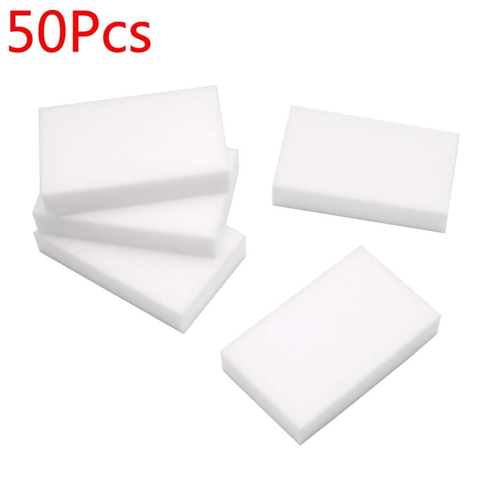 50PCS Cleaning Magic Sponge Eraser Melamine Cleaner Multi-functional Foam White BEESS