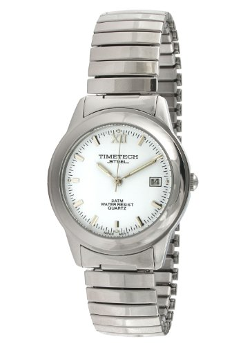 Sub Mariner Date Watch (Timetech Steel 3604M Men's Round Steel White Dial Expansion Watch)