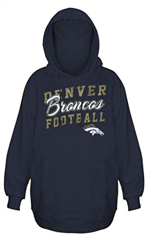 Hood Athletic Majestic (Majestic Denver Broncos NFL Womens Stadium Rally Pullover Hoodie Navy Blue Plus Sizes (3X))