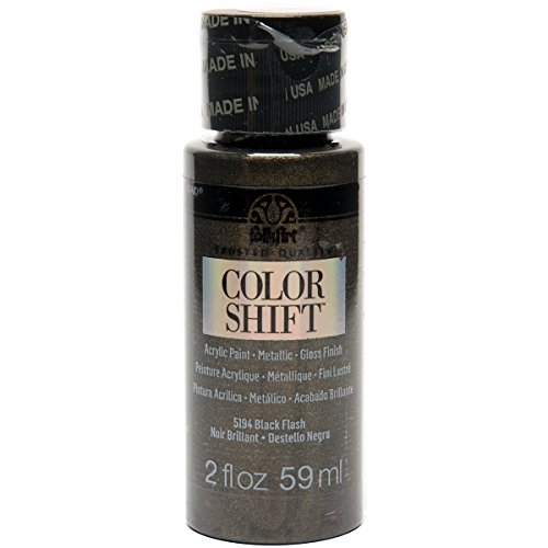 FolkArt Color Shift Acrylic Paint in Assorted Colors (2 ounce), 5194 Black Flash (Direct Shift)
