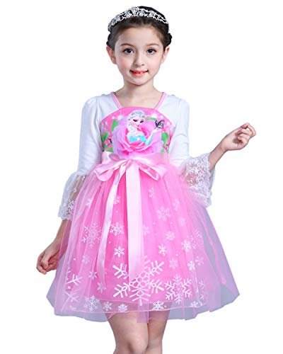 COSCOO Girls Snow Queen Frozen Costume for