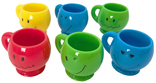 Large Parrot Mug - Bonka Bird Toys 6 Mini Smiley Mugs Bird Toy Parrot Parts Craft Plastic Chewy Forage Foot Play
