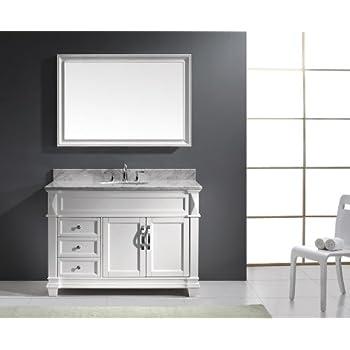 Virtu USA MS 2648 WMRO WH Transitional 48 Inch Single Sink Bathroom. Foremost BECA4821D Berkshire 48 Inch Espresso Bathroom Vanity
