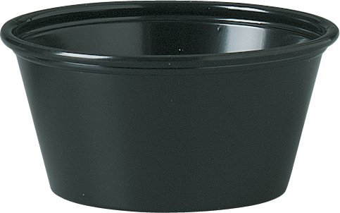 Sold Individually Solo Plastic Portion Container for Food Beverages & Crafts, 2.0 oz, - Portion Plastic ? Cup Souffl