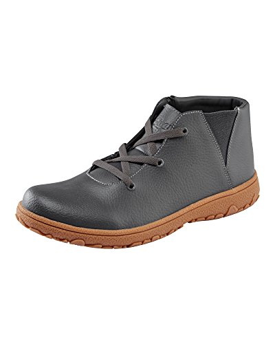 Cotton Traders Unisex Womens Ladies Mens Leather Lace-up Boots Shoes E Fit Slip-On Graphite hk6mG9Lep
