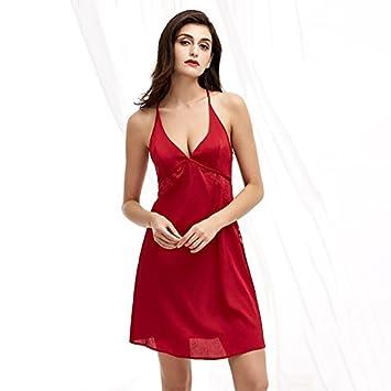 TAOTINGYAN Sleep Dress,Camisón,Pijamas Para Mujer Falda De Encaje Colgando Ropa Camisón Pijama