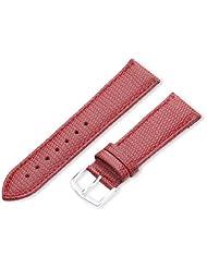 Hadley-Roma Women's LSL725RQ 200 20mm Red Java Lizard Grain Watch Strap