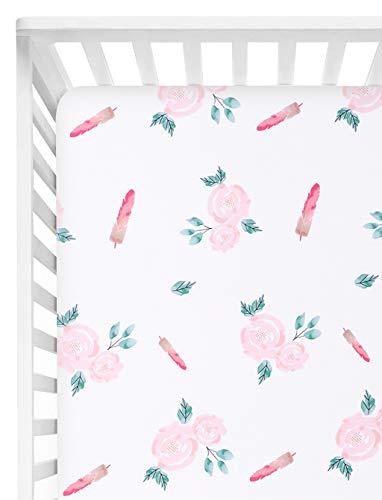 TILLYOU Microfiber Floral Crib