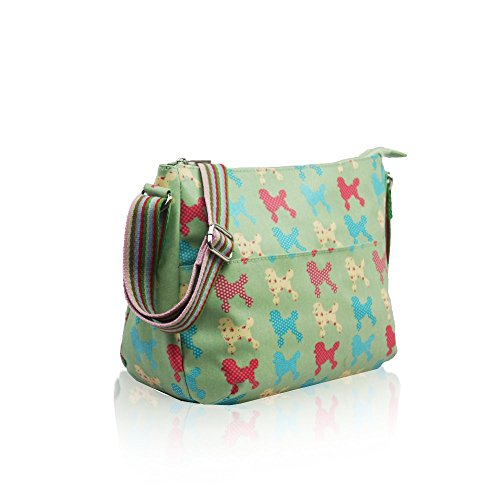 YDezire® Green Womens Shoulder Messenger Women Bag Satchel Cross Body Oilcloth Poodle Light Butterfly Handbag Tote Ladies AApxRqr