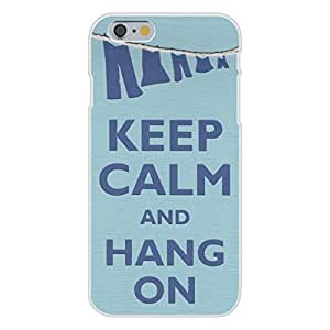 Apple iphone 4 4s Custom Case White Plastic Snap On - Keep Calm and Hang On Clothes Line