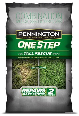 Pennington Seed 100522284 One Step Complete Grass Seed Mix, Tall Fescue, 8.3-Lbs.
