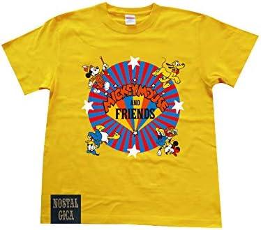 ディズニー ノスタルジカ Tシャツ ミッキーフレンズロゴ イエロー Lサイズ AWDS6069N