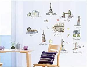Famous Buildings Wall Sticker