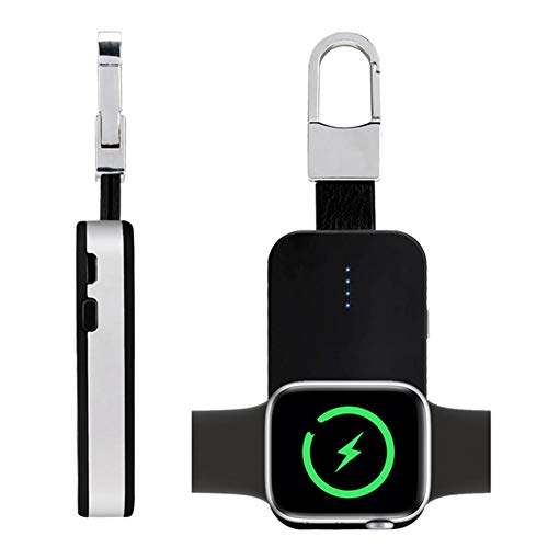 Calmson Keychain Wireless Charger for Mobile Phone Watch Portable Magnetic Charger Built in Power Bank for iWatch iPhone