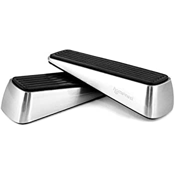 Homesnest Door Stopper, Heavy Duty Wedge That Holds Doors Firmly and Doesn't Budge, Made of Rubber and Stainless Steel (Contains 2 Stoppers) Door Pinch as Bonus