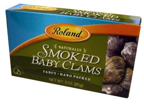 (Smoked Baby Clams (Roland) 3 oz (85g))