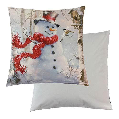 2 X Filled Christmas Snowman Bird Trees White Light Up Velvet 18