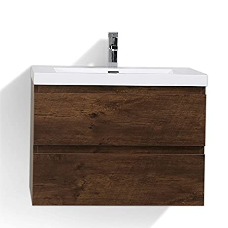 30 Inch Modern Bathroom Vanity. Moreno Mob 30 Inch Rosewood Modern Bathroom Vanity With Acrylic Sink Wall Mounted