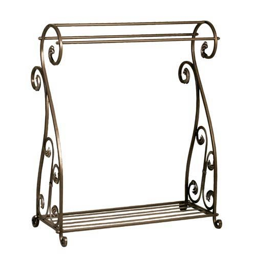 Passport Scrolled Iron Quilt Rack - Bronze (Passport Accent Furniture)