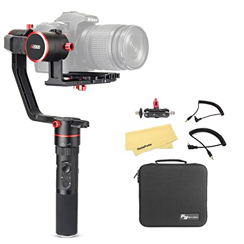 FeiyuTech Feiyu a2000 3 Axis Camera Gimbal Stabilizer for Canon 5D IV III Series, SONY A7 A7R A7S II Series, Sony a6500, A7 Series, Panasonic GH4 GH5, Payload: 250-2500g, with carrying case by FeiyuTech
