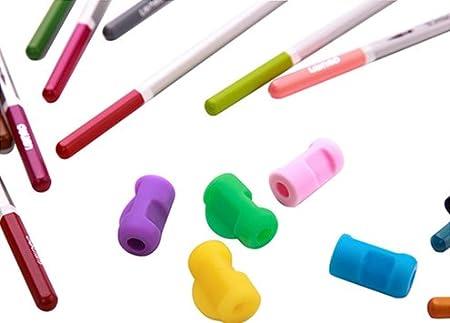 Shulaner Impugnature per Matita colorati con impugnatura morbide matita o per bambini e adulti 20 Pcs of 4 colour