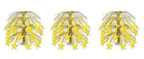 Beistle 50553-GD 3 Pieces Star Cascade Centerpieces, 18