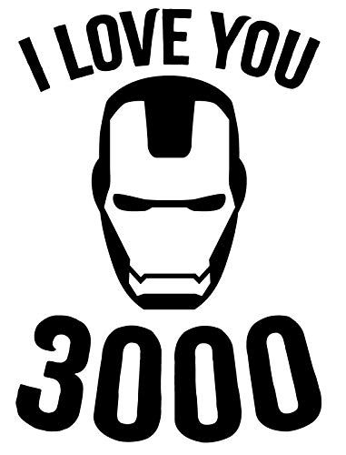 Creative Concepts Ideas I Love You Three Thousand 3000 Ironman CCI Decal Vinyl Sticker|Cars Trucks Vans Walls Laptop|Black|5.5 x 3.8 in|CCI2298]()