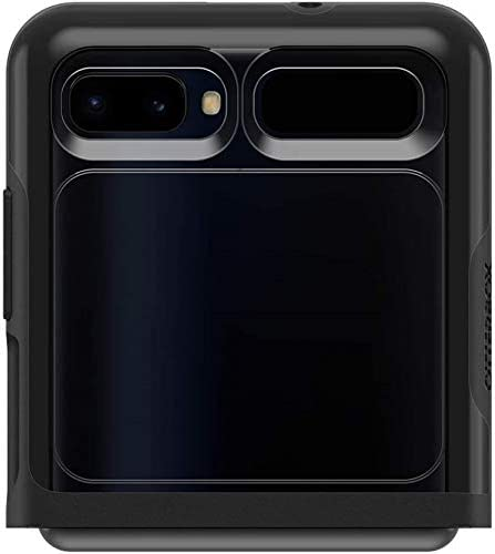 OtterBox Symmetry Flex Series Case for Galaxy Z Flip (5G Compatible) - Retail Packaging - Black/Clear