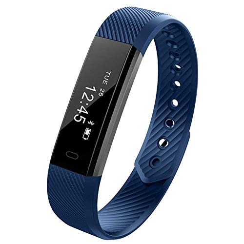 Fitness Tracker Watch for Women Men Kids Waterproof, Minimalist Design Activity Tracker,Ultra Slim and Lightweight Smart Bracelet Pedometer Sleep Monitor for iOS Android