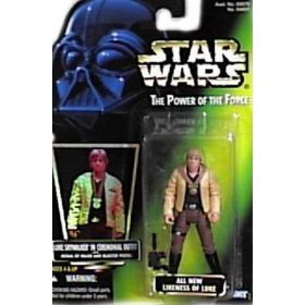 Kenner Luke Skywalker (Star Wars, The Power of the Force Green Card, Luke Skywalker in Ceremonial Outfit Action Figure, 3.75 Inches)