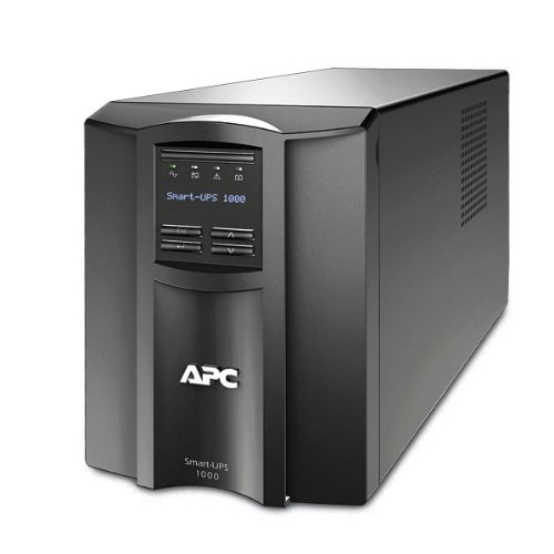 APC Smart-UPS 1000VA UPS Battery Backup with Pure Sine Wave Output (SMT1000) -