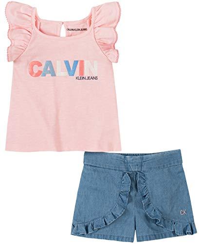 Calvin Klein Baby Girls' 2 Pieces Shorts