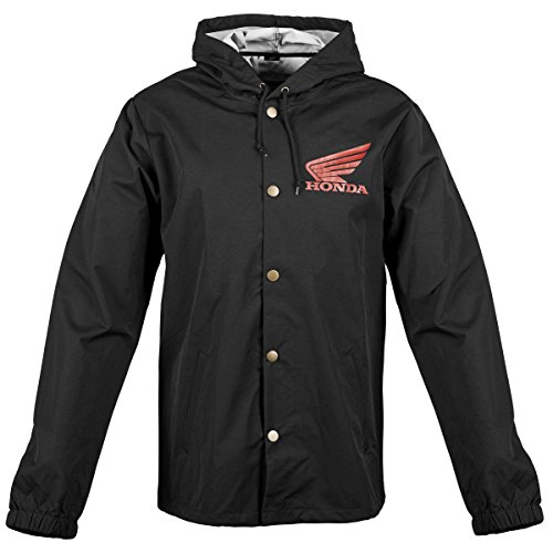 - Honda Big Wing Windbreaker Jacket, Gender: Mens/Unisex, Primary Color: Black, Size: XL, Distinct Name: Black, Apparel Material: Textile