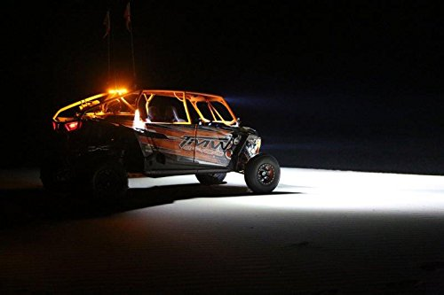 Emark Approved 10W LED 2 Light Kit Optimus Round Halo 1 XIL-OPRH115KIT Black VIS-XILOPRH115KIT 15 Degree Narrow Vision X Lighting